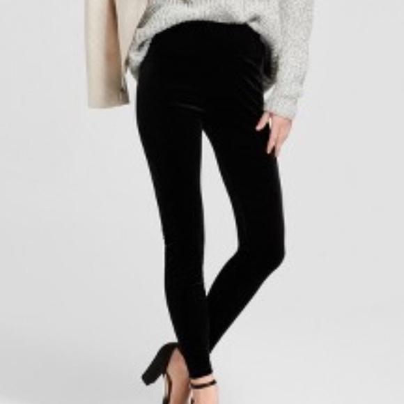 28b2698925e546 a new day Pants | Size M Black Velvet Leggings Nwt | Poshmark